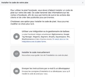 Installation pixel facebook