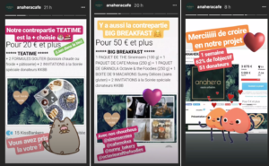 Instagram promotion projet crowdfunding