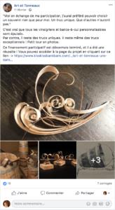 publication facebook collecte crowdfunding