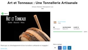 art et tonneaux crowdfunding
